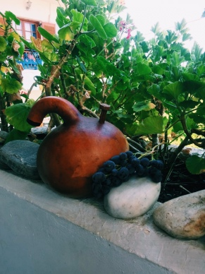 Σιφούνι φτιαγμένο από κολοκύθα. Αντλούσαν παλιά το κρασί μέσα από τα πιθάρια που βρισκόντουσαν κάτω από τη γη.